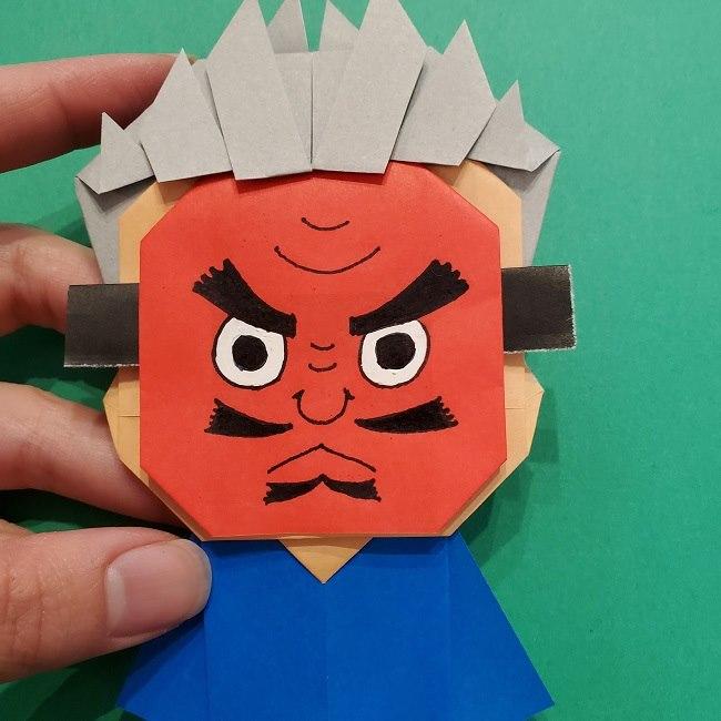 きめつのやいばの折り紙 うろこだき(鱗滝左近次)の折り方作り方⑤完成 (9)