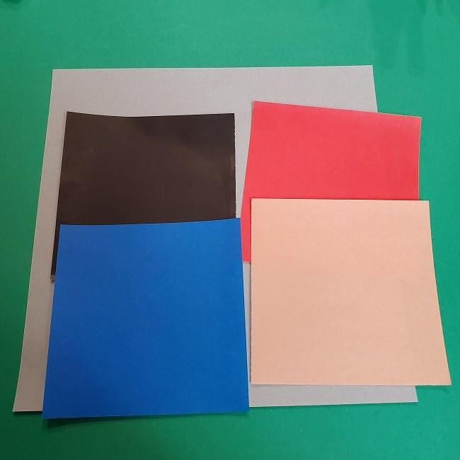 きめつのやいばの折り紙 うろこだき(鱗滝左近次)*必要な物 (1)