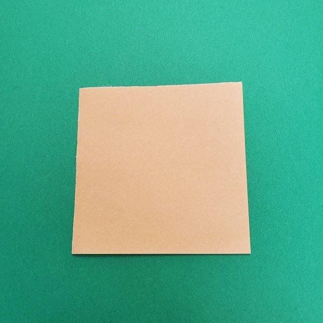 きめつのやいばの折り紙 さびと(錆兎)*折り方作り方①顔 (1)