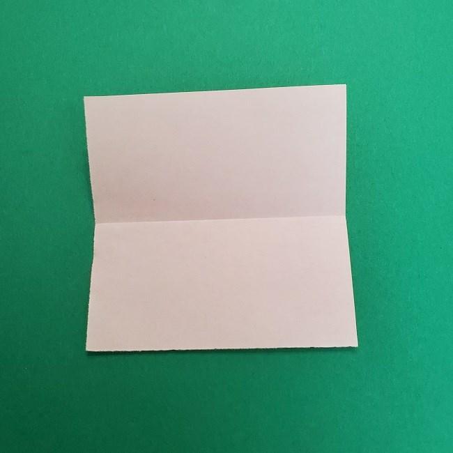 きめつのやいばの折り紙 さびと(錆兎)*折り方作り方①顔 (3)