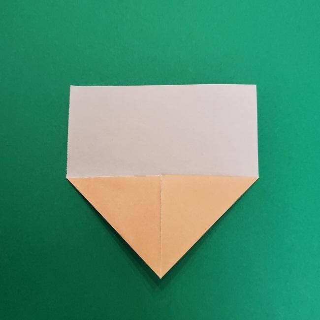 きめつのやいばの折り紙 さびと(錆兎)*折り方作り方①顔 (4)