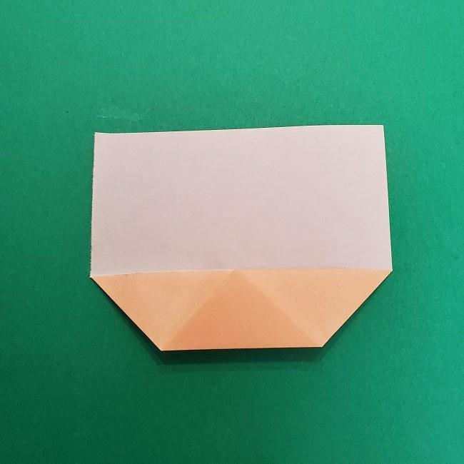 きめつのやいばの折り紙 さびと(錆兎)*折り方作り方①顔 (5)