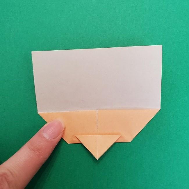 きめつのやいばの折り紙 さびと(錆兎)*折り方作り方①顔 (6)