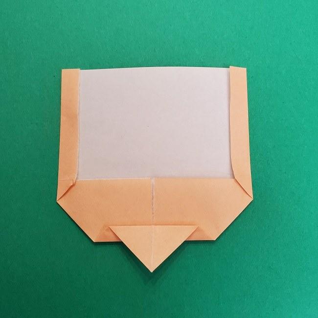 きめつのやいばの折り紙 さびと(錆兎)*折り方作り方①顔 (7)