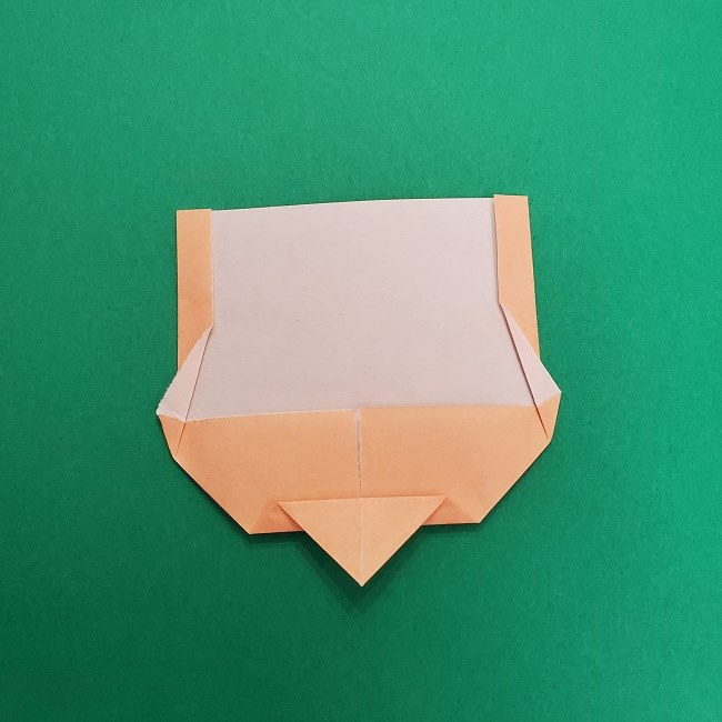 きめつのやいばの折り紙 さびと(錆兎)*折り方作り方①顔 (8)