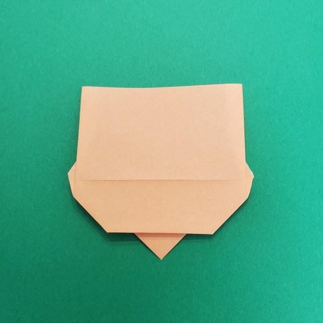 きめつのやいばの折り紙 さびと(錆兎)*折り方作り方①顔 (9)