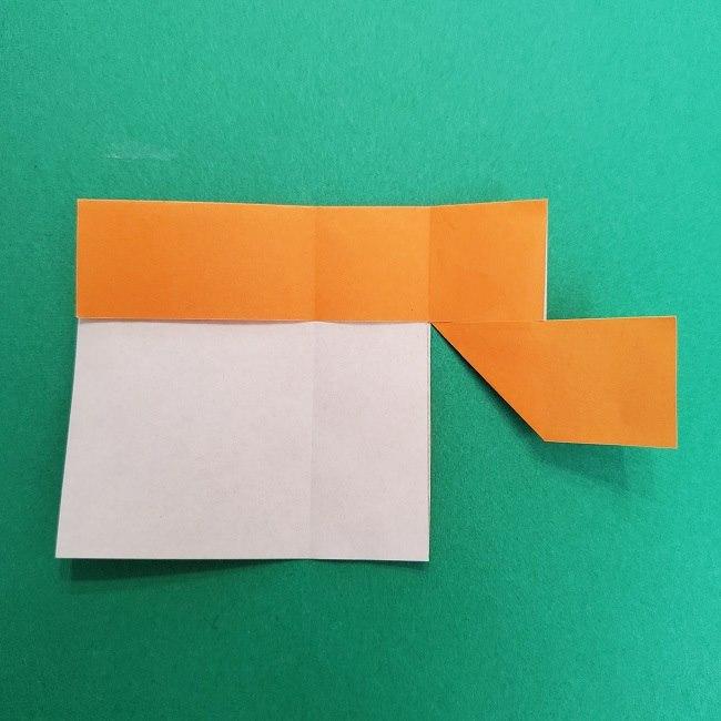 きめつのやいばの折り紙 さびと(錆兎)*折り方作り方②髪 (10)