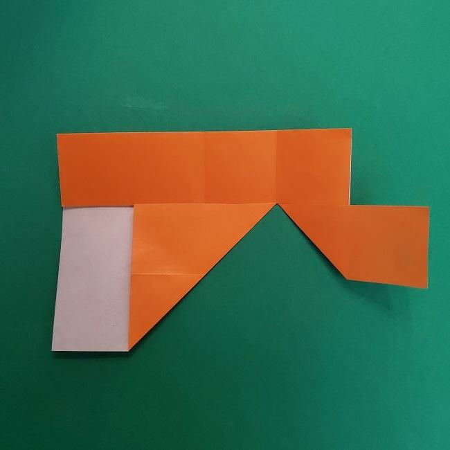 きめつのやいばの折り紙 さびと(錆兎)*折り方作り方②髪 (11)