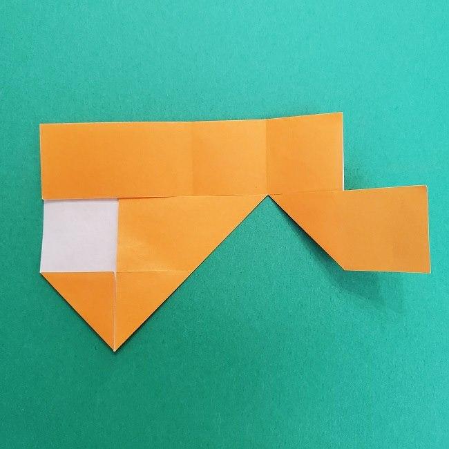 きめつのやいばの折り紙 さびと(錆兎)*折り方作り方②髪 (12)