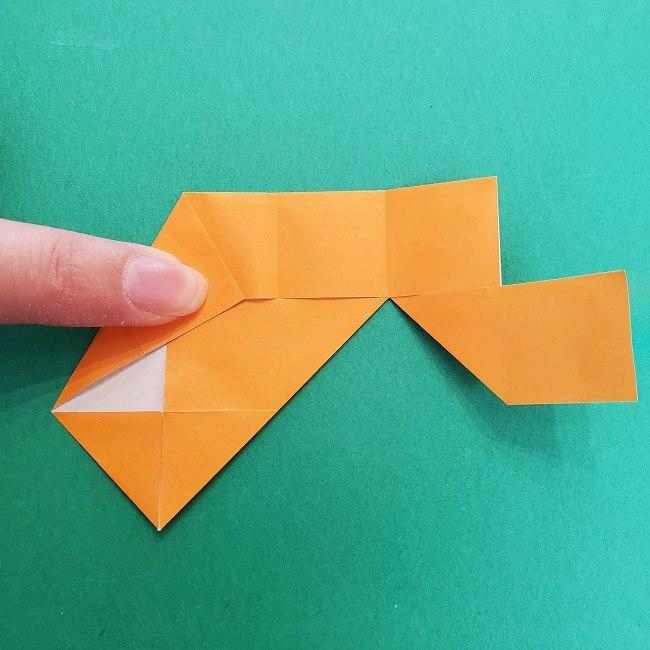 きめつのやいばの折り紙 さびと(錆兎)*折り方作り方②髪 (13)
