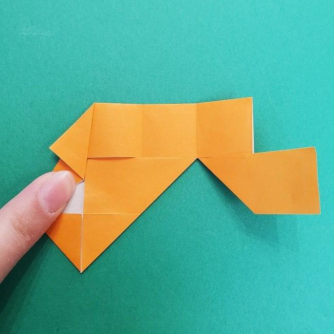 きめつのやいばの折り紙 さびと(錆兎)*折り方作り方②髪 (14)