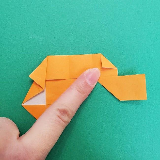 きめつのやいばの折り紙 さびと(錆兎)*折り方作り方②髪 (15)