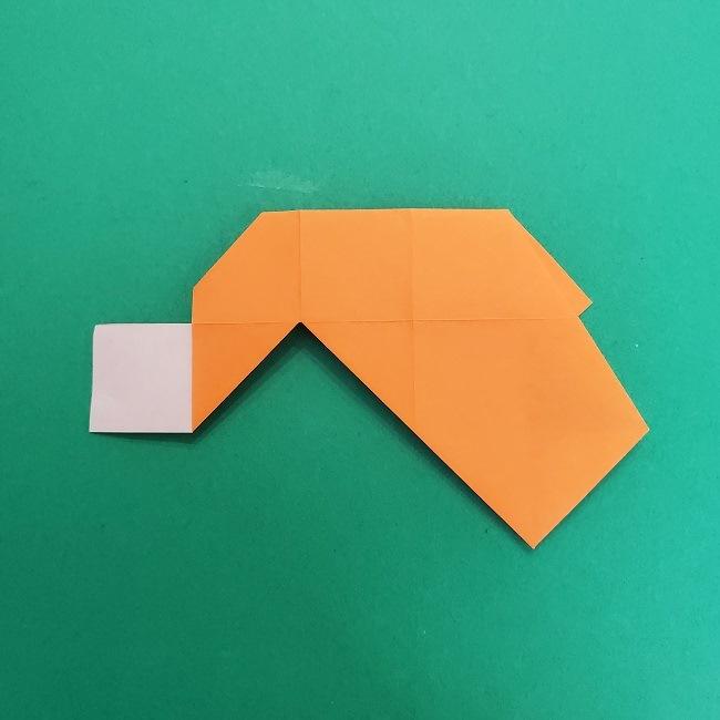 きめつのやいばの折り紙 さびと(錆兎)*折り方作り方②髪 (16)