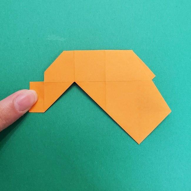 きめつのやいばの折り紙 さびと(錆兎)*折り方作り方②髪 (17)