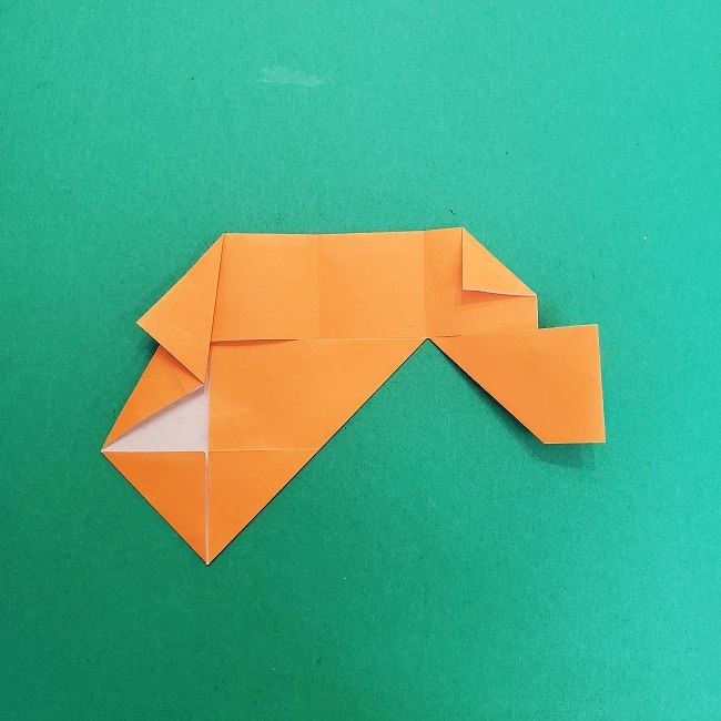 きめつのやいばの折り紙 さびと(錆兎)*折り方作り方②髪 (18)