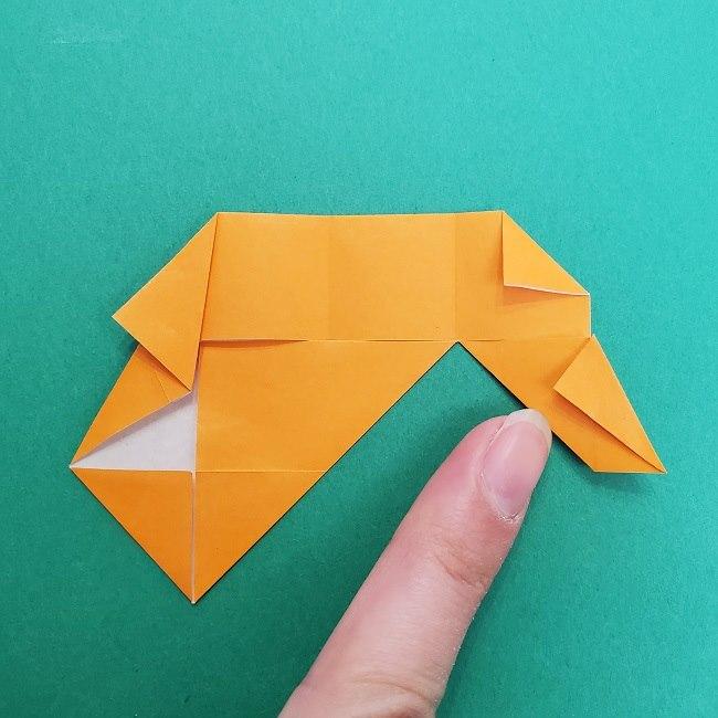 きめつのやいばの折り紙 さびと(錆兎)*折り方作り方②髪 (19)