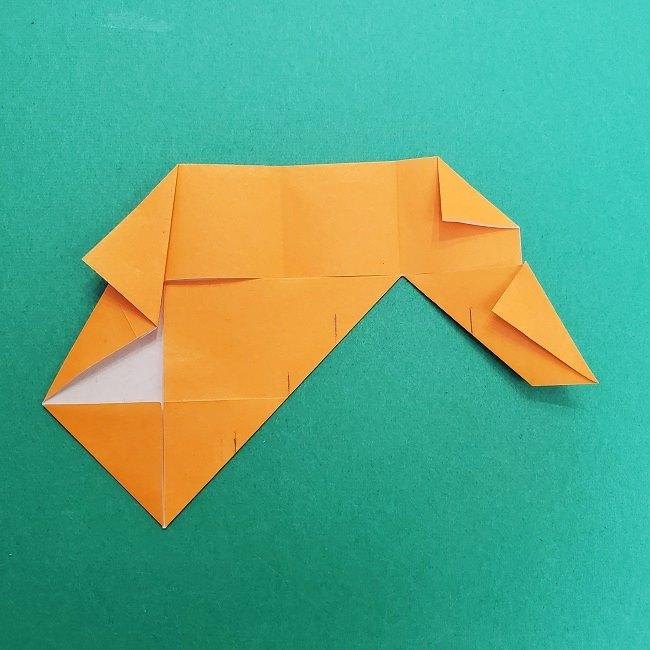 きめつのやいばの折り紙 さびと(錆兎)*折り方作り方②髪 (20)