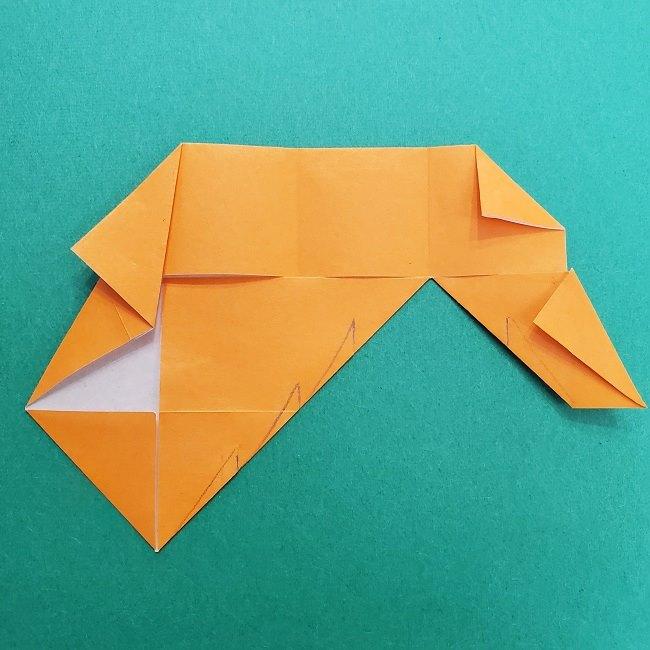 きめつのやいばの折り紙 さびと(錆兎)*折り方作り方②髪 (21)