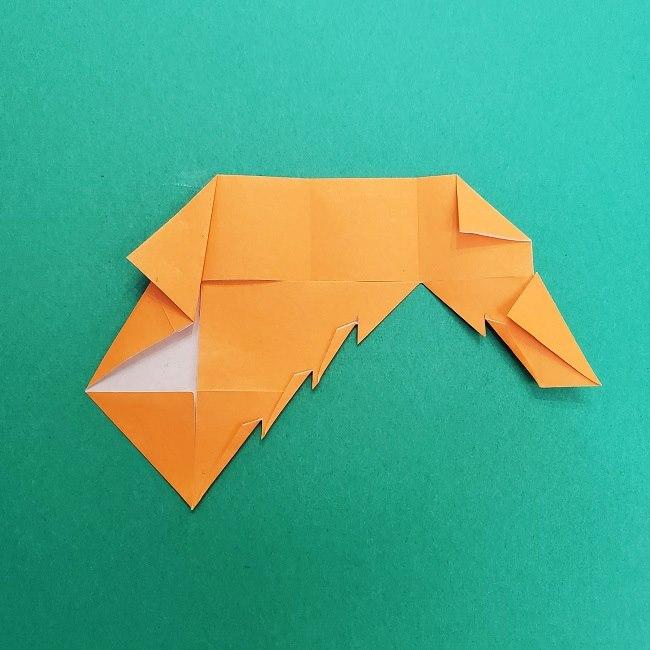 きめつのやいばの折り紙 さびと(錆兎)*折り方作り方②髪 (22)