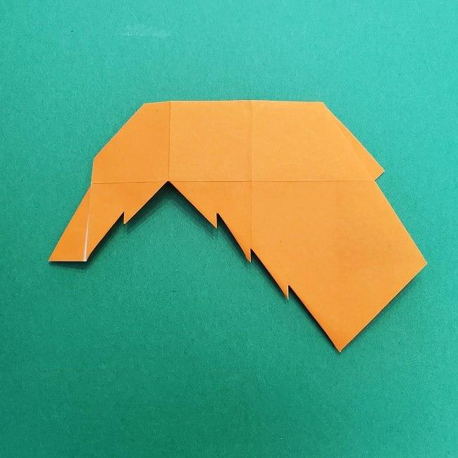 きめつのやいばの折り紙 さびと(錆兎)*折り方作り方②髪 (23)