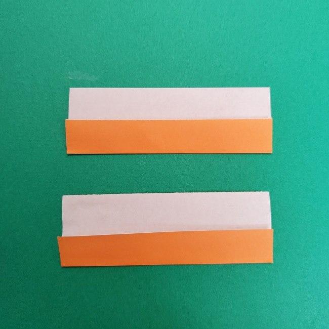 きめつのやいばの折り紙 さびと(錆兎)*折り方作り方②髪 (26)