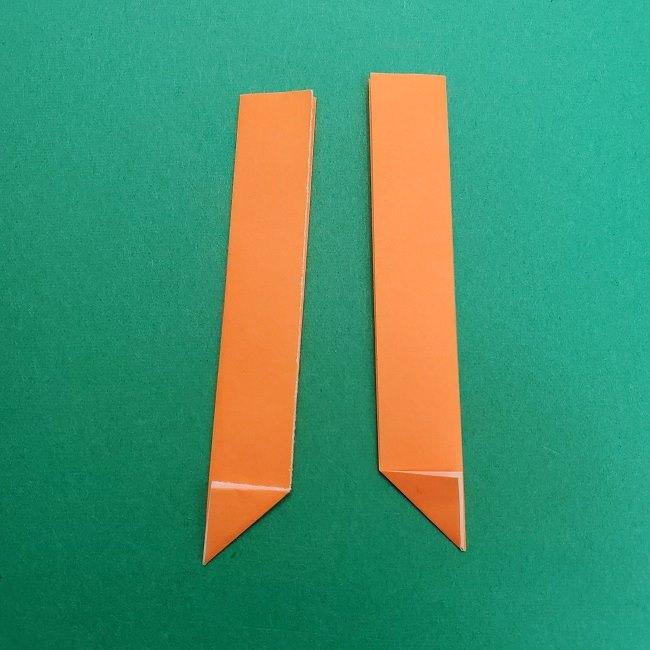 きめつのやいばの折り紙 さびと(錆兎)*折り方作り方②髪 (29)
