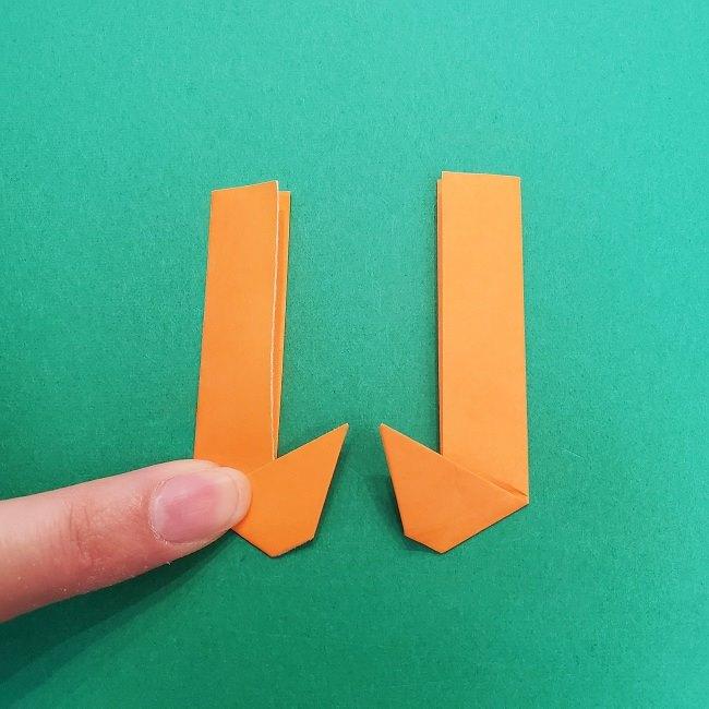 きめつのやいばの折り紙 さびと(錆兎)*折り方作り方②髪 (30)