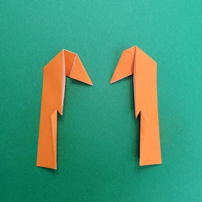 きめつのやいばの折り紙 さびと(錆兎)*折り方作り方②髪 (33)