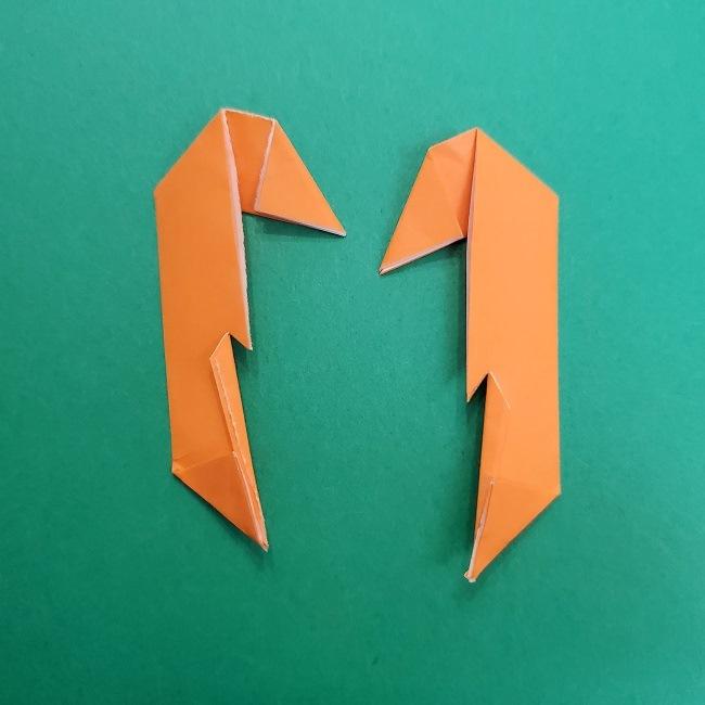 きめつのやいばの折り紙 さびと(錆兎)*折り方作り方②髪 (34)