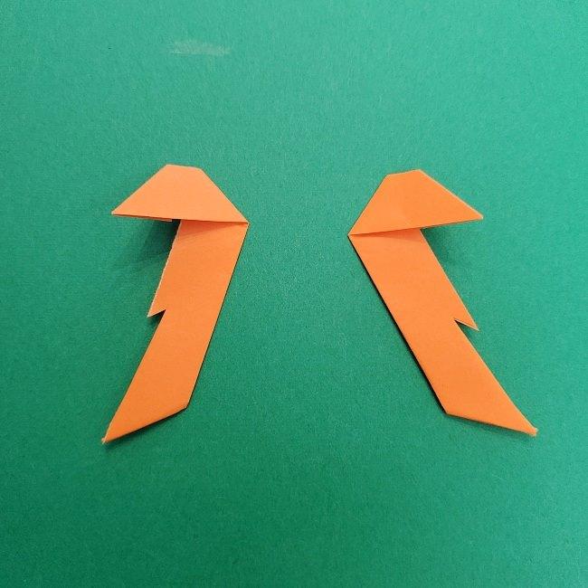 きめつのやいばの折り紙 さびと(錆兎)*折り方作り方②髪 (35)