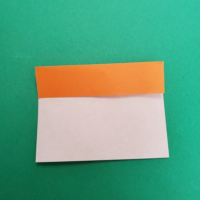 きめつのやいばの折り紙 さびと(錆兎)*折り方作り方②髪 (4)