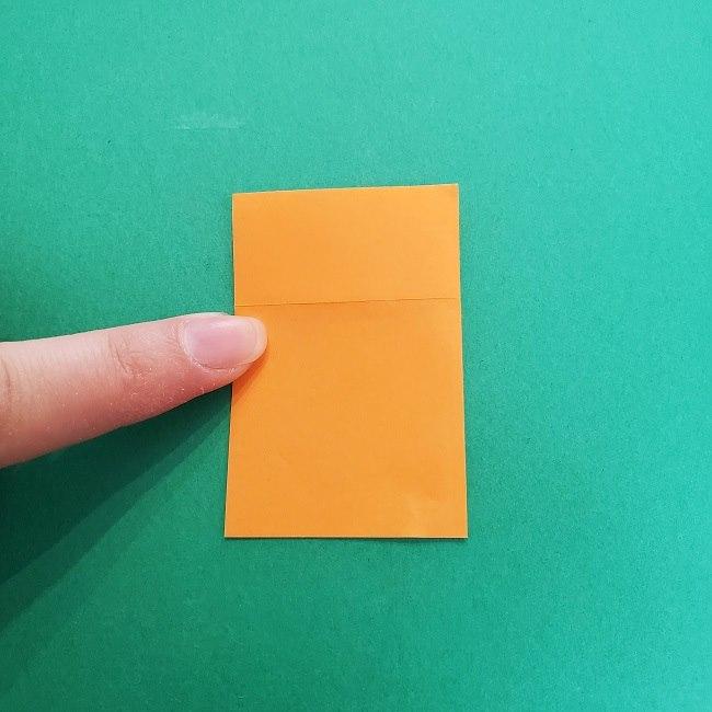きめつのやいばの折り紙 さびと(錆兎)*折り方作り方②髪 (5)