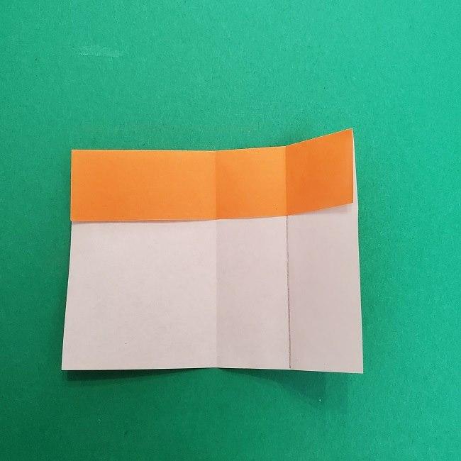きめつのやいばの折り紙 さびと(錆兎)*折り方作り方②髪 (8)
