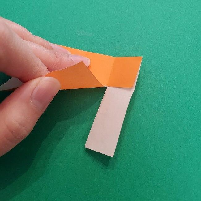 きめつのやいばの折り紙 さびと(錆兎)*折り方作り方②髪 (9)