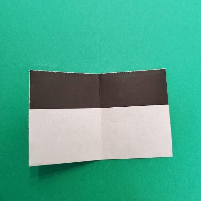きめつのやいばの折り紙 さびと(錆兎)*折り方作り方③着物 (4)