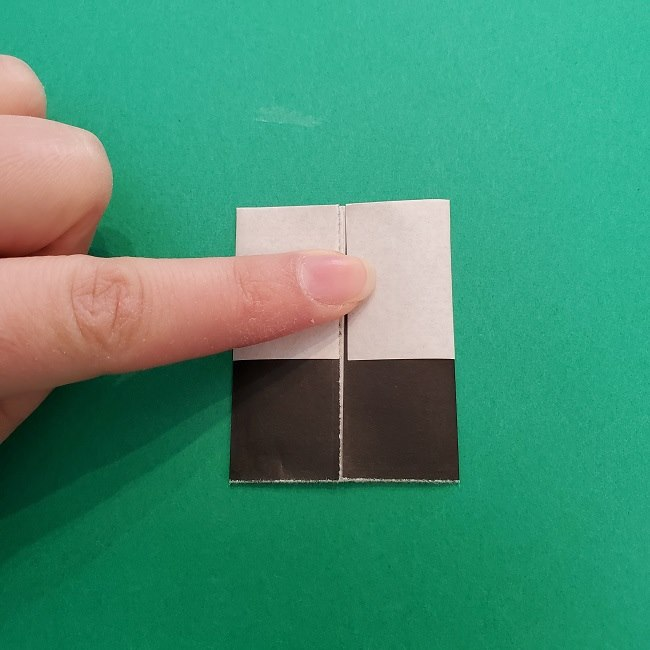 きめつのやいばの折り紙 さびと(錆兎)*折り方作り方③着物 (5)