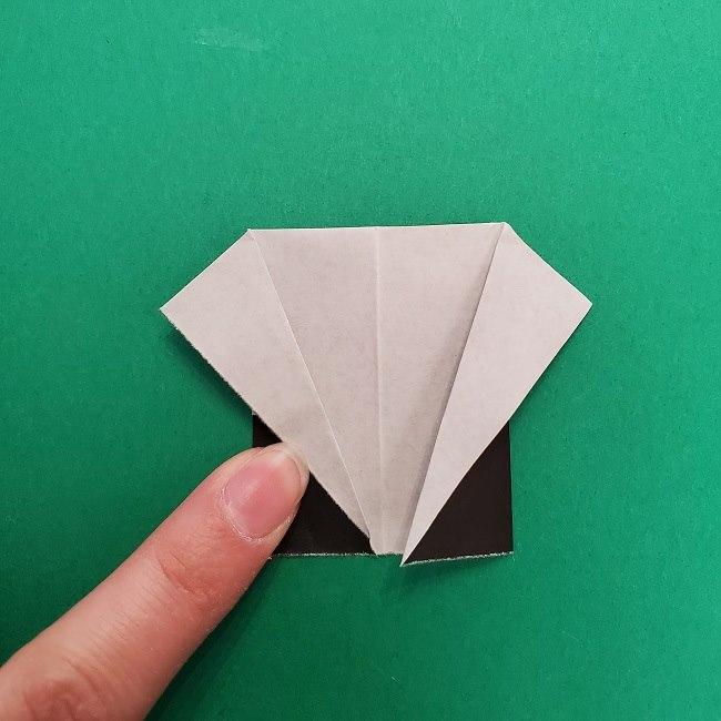 きめつのやいばの折り紙 さびと(錆兎)*折り方作り方③着物 (6)