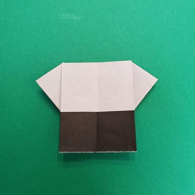 きめつのやいばの折り紙 さびと(錆兎)*折り方作り方③着物 (7)