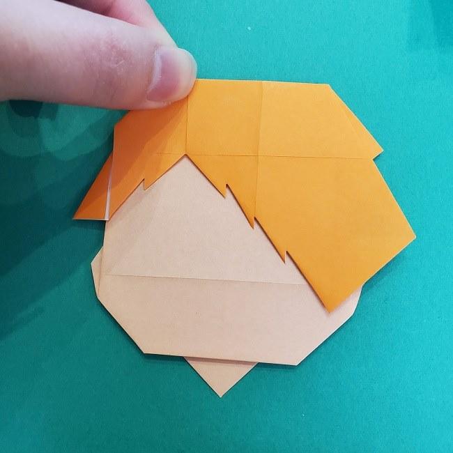 きめつのやいばの折り紙 さびと(錆兎)*折り方 (1)