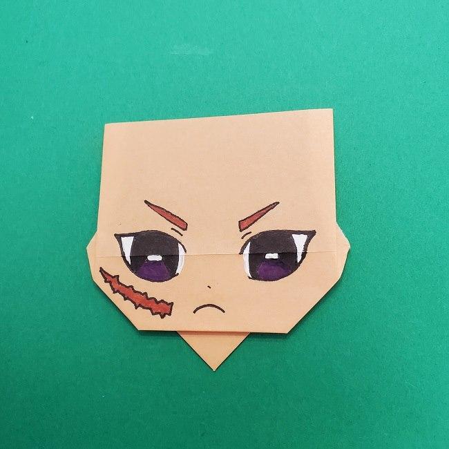 きめつのやいばの折り紙 さびと(錆兎)*折り方 (2)