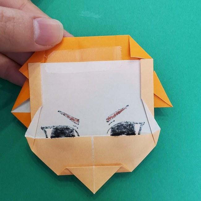きめつのやいばの折り紙 さびと(錆兎)*折り方 (3)