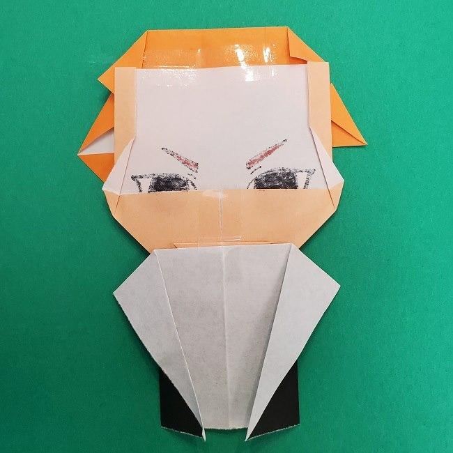 きめつのやいばの折り紙 さびと(錆兎)*折り方 (5)
