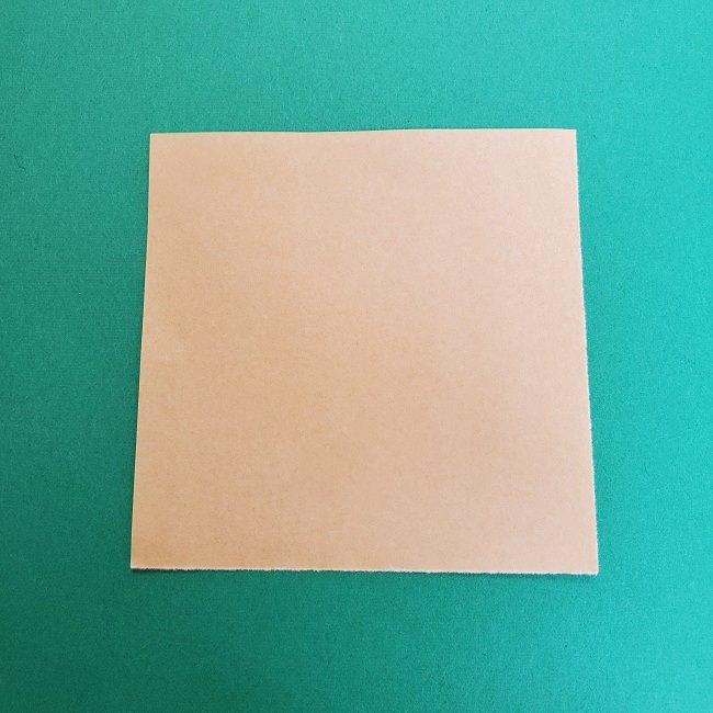 きめつのやいばの折り紙 真菰の折り方作り方①顔 (1)