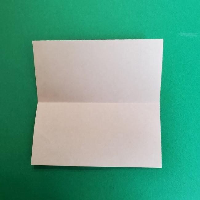 きめつのやいばの折り紙 真菰の折り方作り方①顔 (3)