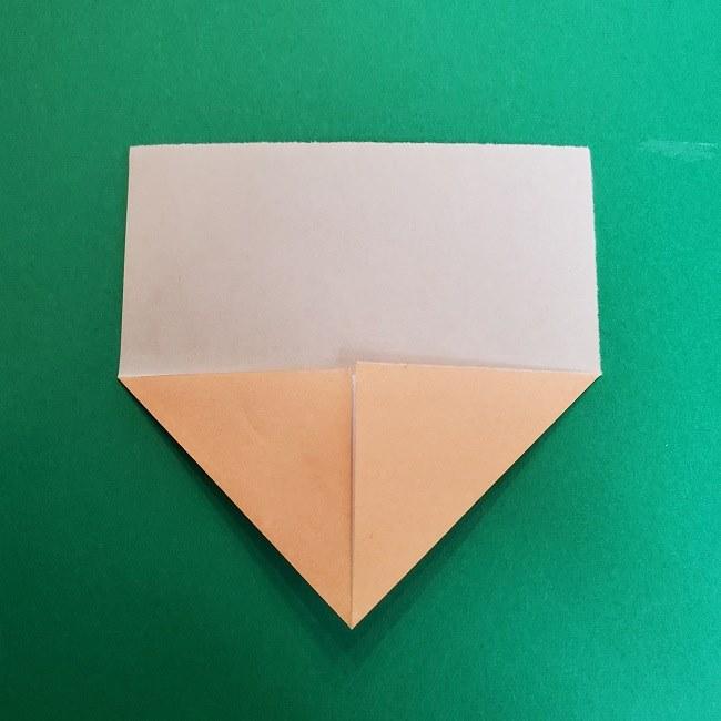 きめつのやいばの折り紙 真菰の折り方作り方①顔 (4)