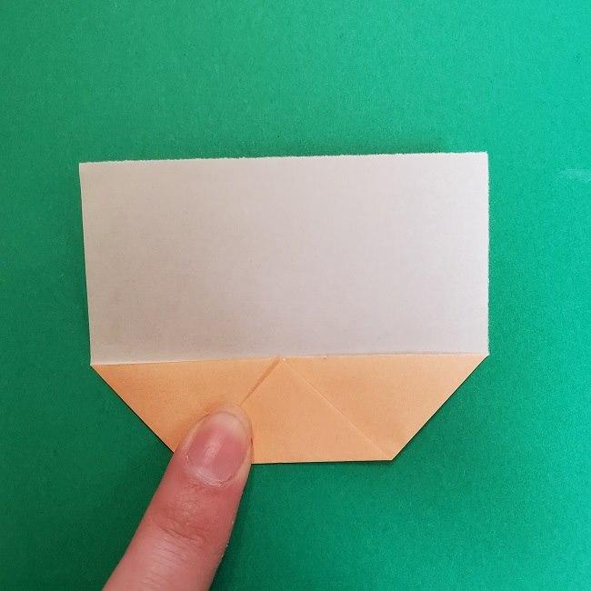 きめつのやいばの折り紙 真菰の折り方作り方①顔 (5)