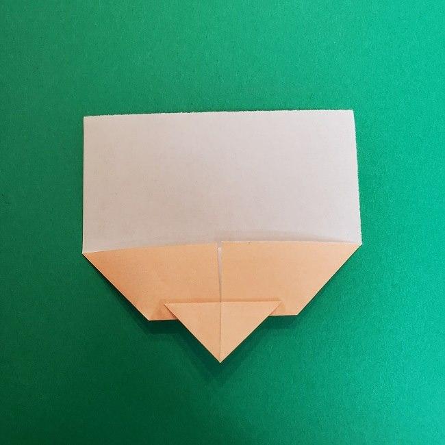 きめつのやいばの折り紙 真菰の折り方作り方①顔 (6)