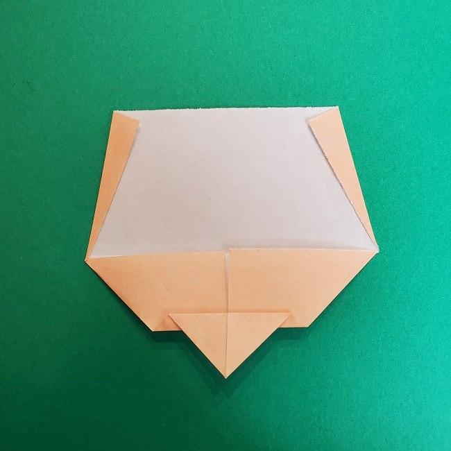 きめつのやいばの折り紙 真菰の折り方作り方①顔 (7)