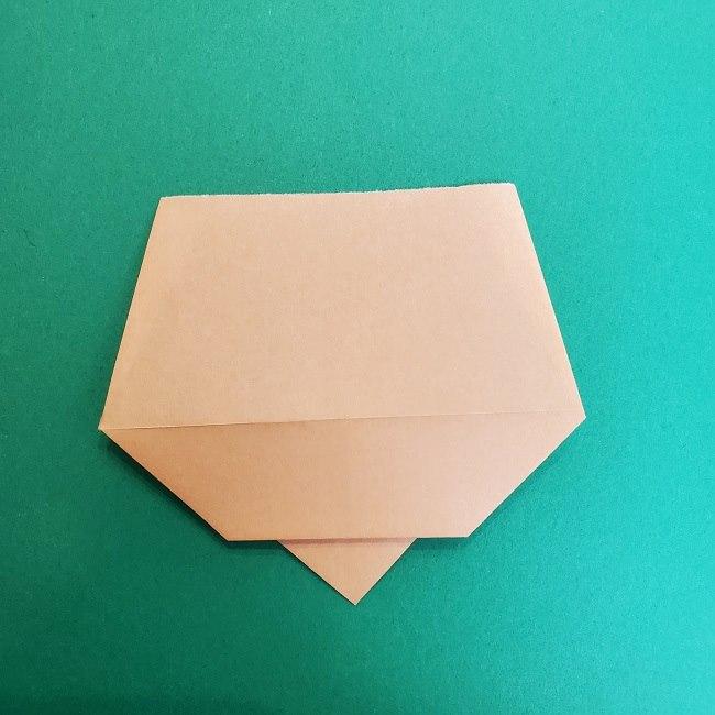 きめつのやいばの折り紙 真菰の折り方作り方①顔 (8)