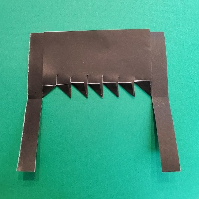 きめつのやいばの折り紙 真菰の折り方作り方②髪 (11)